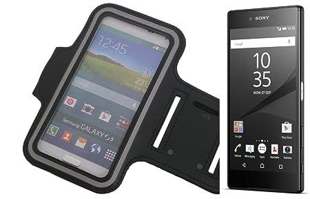 K-S-Trade Für Sony Xperia Z5 Premium Neopren Jogging Armband Sportarmband Oberarmband schwarz für Sony Xperia Z5 Premium mit
