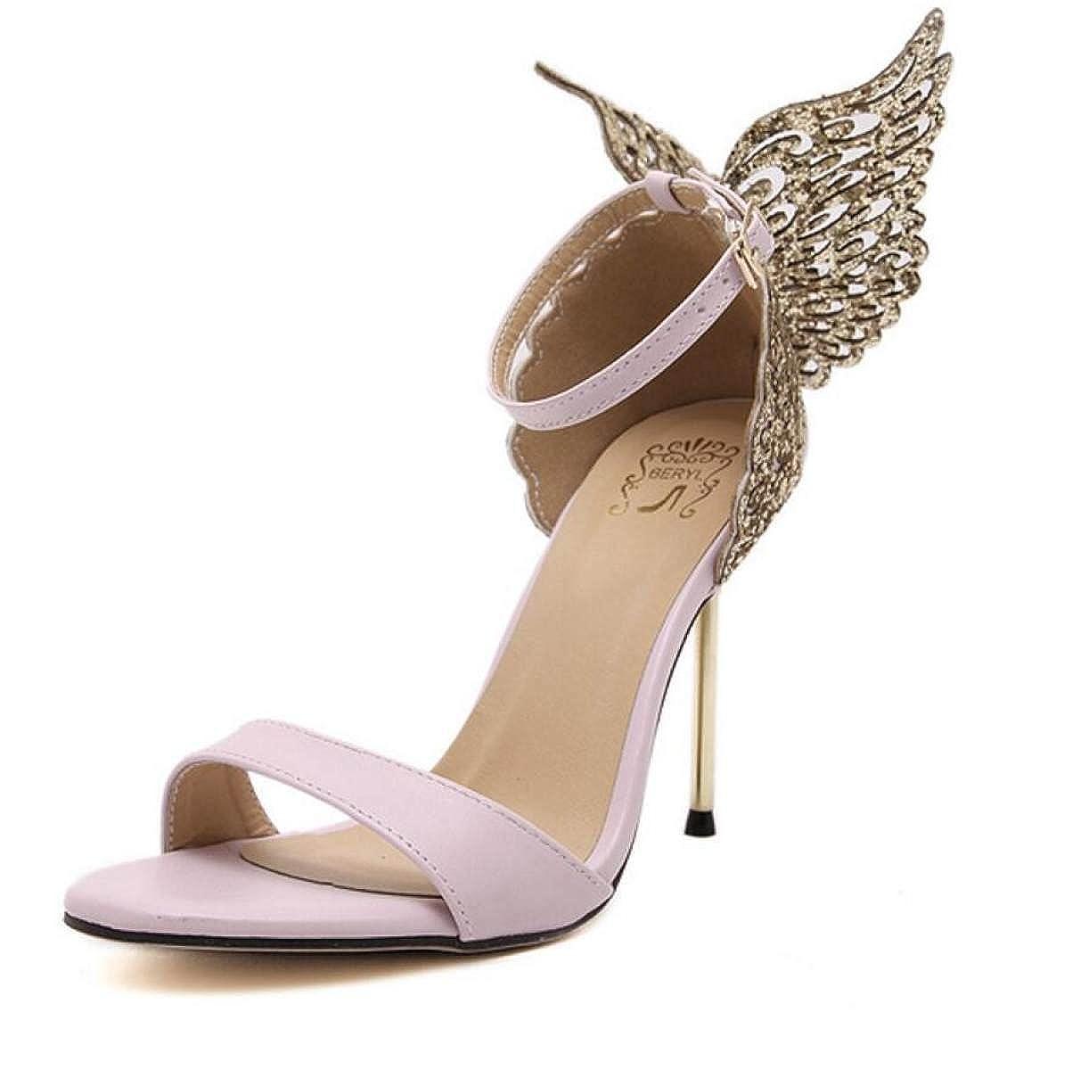 NBWE NBWE NBWE NBWE NBWE Sandalo Strass Elegante Con Alette Aperte Da Donna   3a3d78