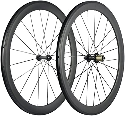 700C 50mm Road bike matt UD carbon bicycle wheels clincher rims basalt 24 holes