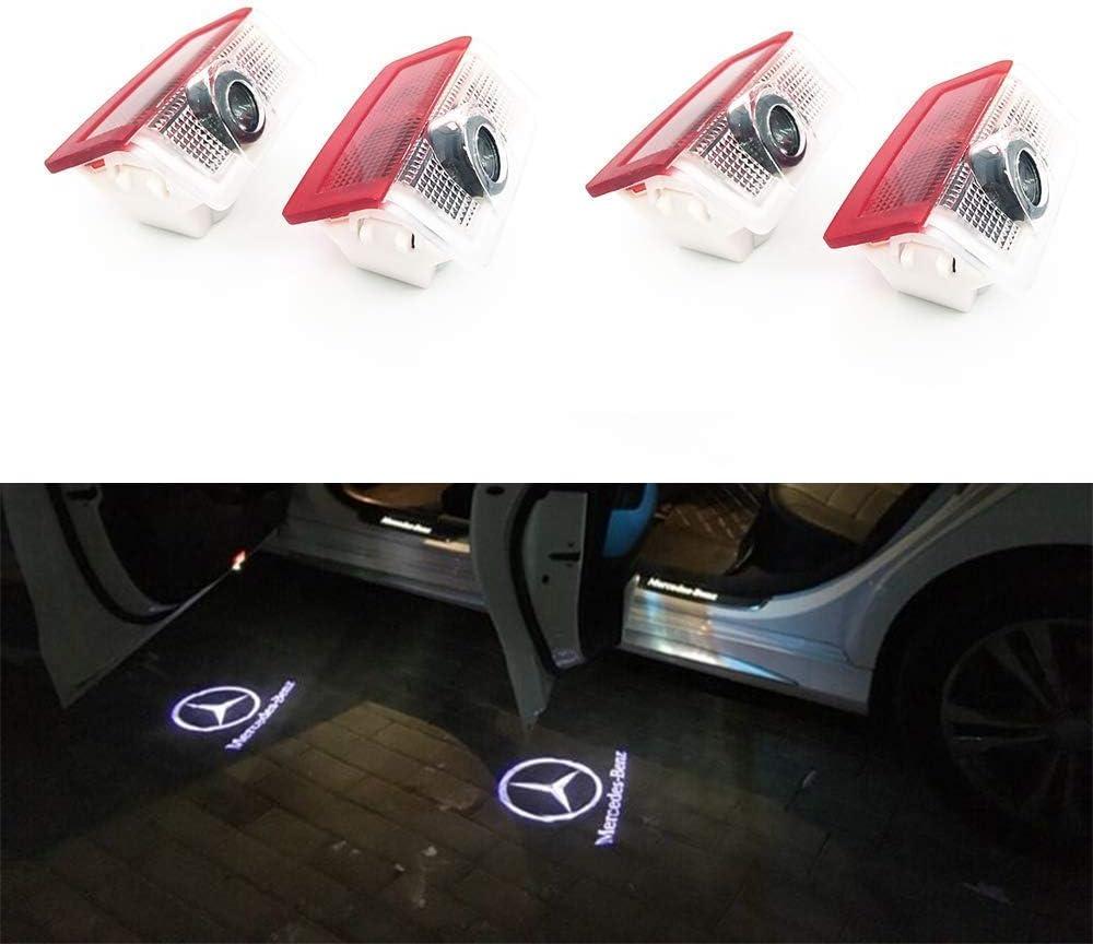 HConce 4 St/ück Einstiegsbeleuchtung T/ür Licht Logo Projektor Autot/ür Logo Projektion