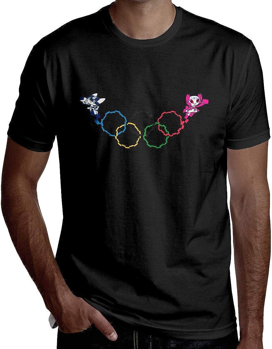YASEFS HRSHEN Personalized Miraitowa Tokyo Olympics Shirt for Man Short Sleeve Black