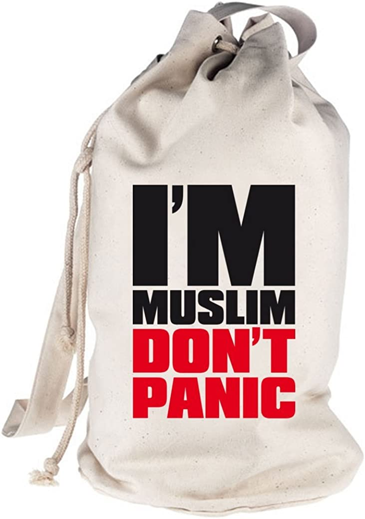Shirtstreet24 IM MUSLIM RED Moslem Islam bedruckter Seesack Umh/ängetasche Schultertasche Beutel Bag