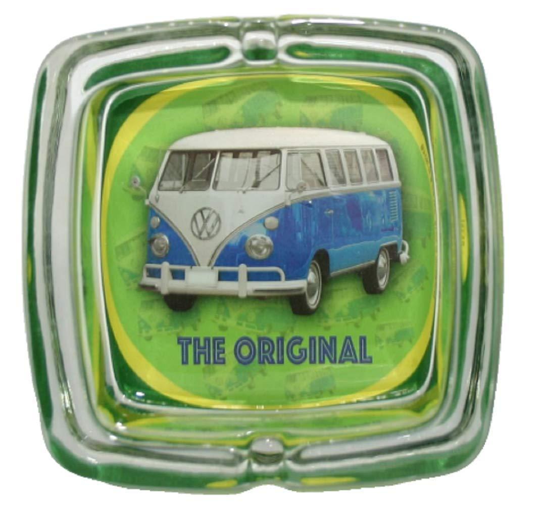 Rosso VW Camper Van Il posacenere per Vetro Pesante Originale Prodotto con Licenza Ufficiale Volkswagen