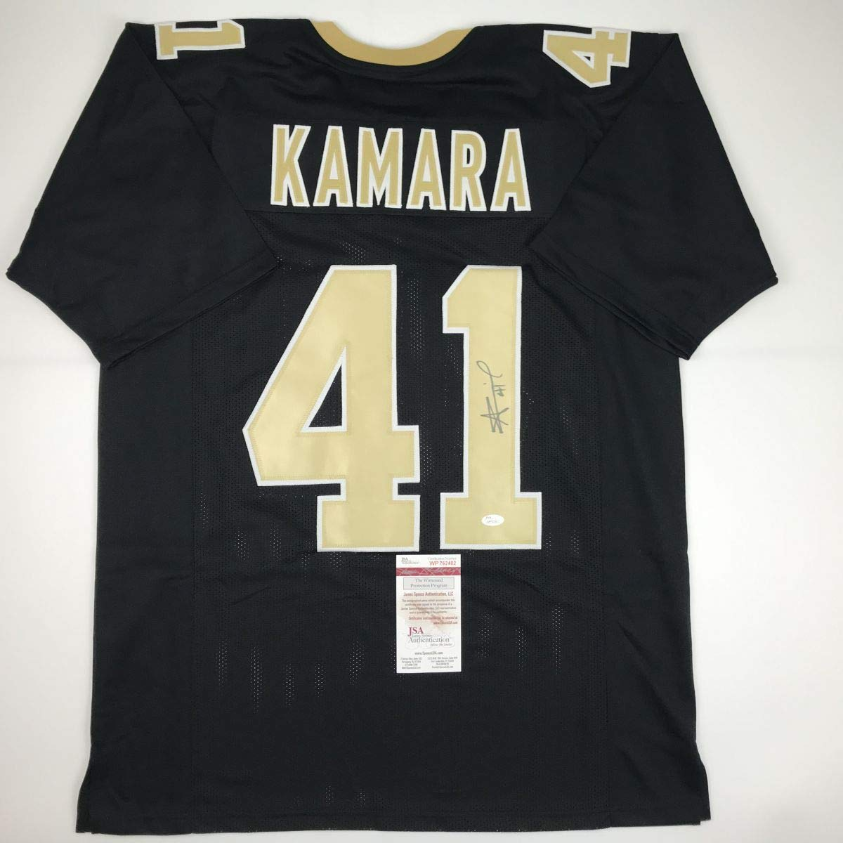8ca2001f Autographed/Signed Alvin Kamara New Orleans Black Football Jersey JSA COA  at Amazon's Sports Collectibles Store