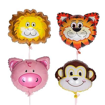 Amazon.com: 4 globos de cumpleaños gigantes de 22.0 in para ...