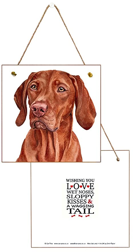 Hungarian Vizsla Dog Lovers Gift Hanging Wooden Greetings Card Birthday Free Air