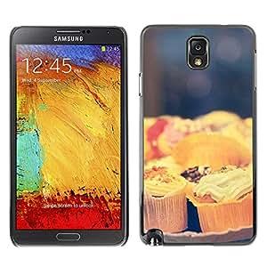 X-ray Impreso colorido protector duro espalda Funda piel de Shell para SAMSUNG Galaxy Note 3 III / N9000 / N9005 - Cook Pastry Chef Sweets Food