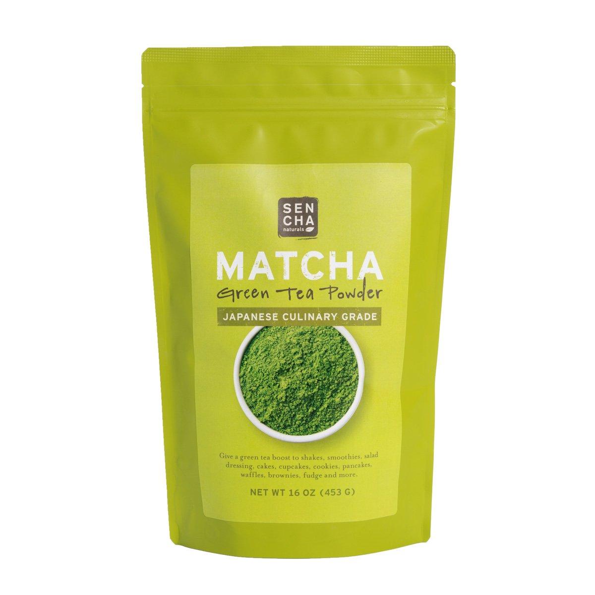Sencha Naturals Culinary Grade, Organic Matcha Powder, 16 Ounce by SENCHA NATURALS (Image #1)