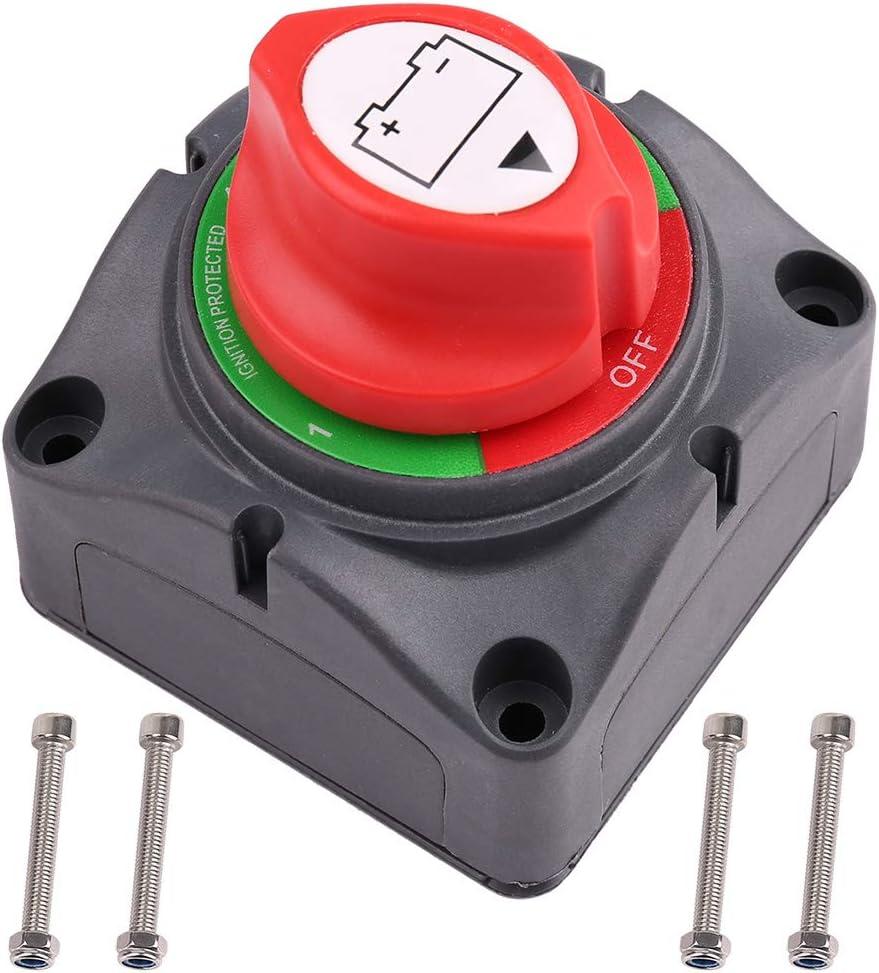 1-2-Both-aus Battery Switch, 6V 12V 24V 48V 60V Battery Disconnect Master Cutoff Switch für Marine Boot Auto Rv Atv Utv Vehicle, Waterproof Heavy Duty Battery Isolator Switch, 200/1250Amps