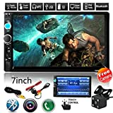 "Car Rear View Camera + CarcarTong 7"" Double Din Touchscreen In Dash Stereo Car Receiver Audio Video Player Bluetooth FM Radio Mp3 / TF / USB / AUX-in / Steering wheel controls + Remote Control"