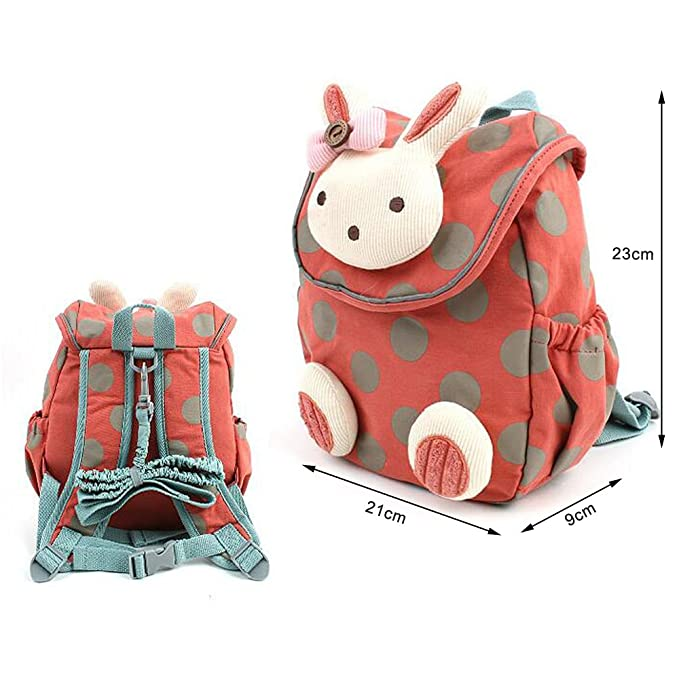 Comfysail Anti-Lost Kids Wee Backpack - Cute Bunny Toddler Watermelon Red  Backpack Best Gift for 1-3 Years Old Nursery Boys and Girls(Small) (Pink1)   ... 9f4d97cae4aef