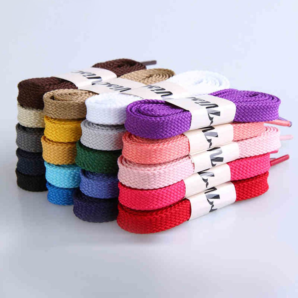 Helen Zora 125cm//49inch Thickened Athletic Flat Shoe Laces Bootlaces Shoelaces Strings For Casual Shoes Sneaker 13 Colors
