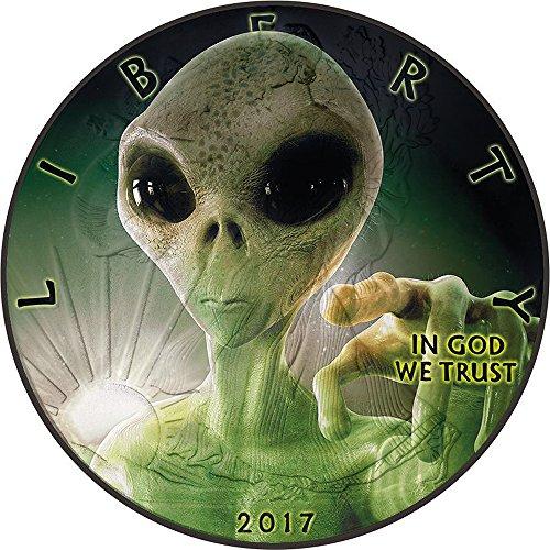 2017 United States Modern Commemorative ALIEN Walking Liberty 1 Oz Silver Coin 1$ US Mint 2017 BU Brilliant (Modern United States Proof Coin)