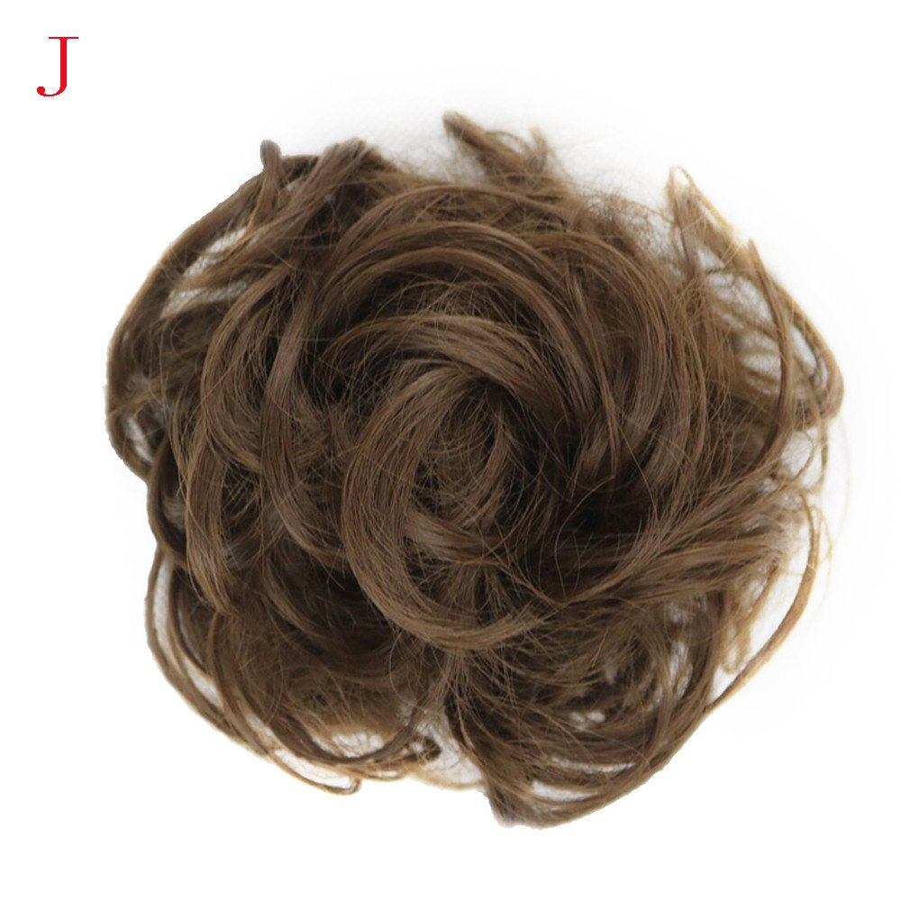 Euone Clearance Sales,Women's Curly Messy Bun Hair Twirl Piece Scrunchie Wigs Extensions Hairdressing