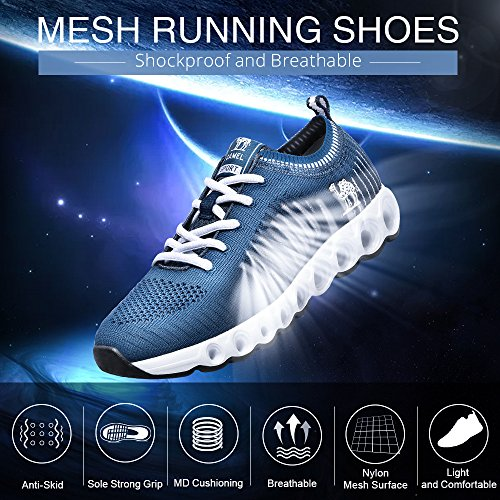 Breathable Shoes Running Blue Shoes Camel Trail Shockproof Lightweight Athletic Casual Dark Walking Men's Mesh qBxFX