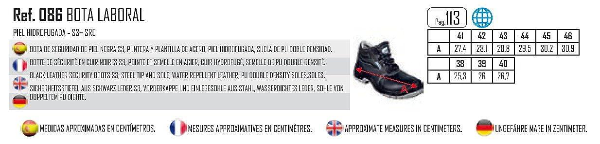 Bota Laboral DE Piel HIDROFUGADA con Puntera Y Plantilla DE Acero: Amazon.es: Zapatos y complementos