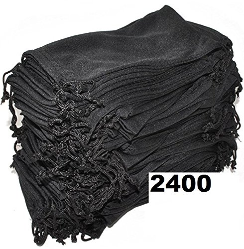 Wholesale Eyewear Eyeglass Sunglasses Microfiber Soft Cloth Cleaning Black Case Pouch Bag 12, 24, 100, 1200 & 2400 PCS - Worldwide Sunglasses Shipping