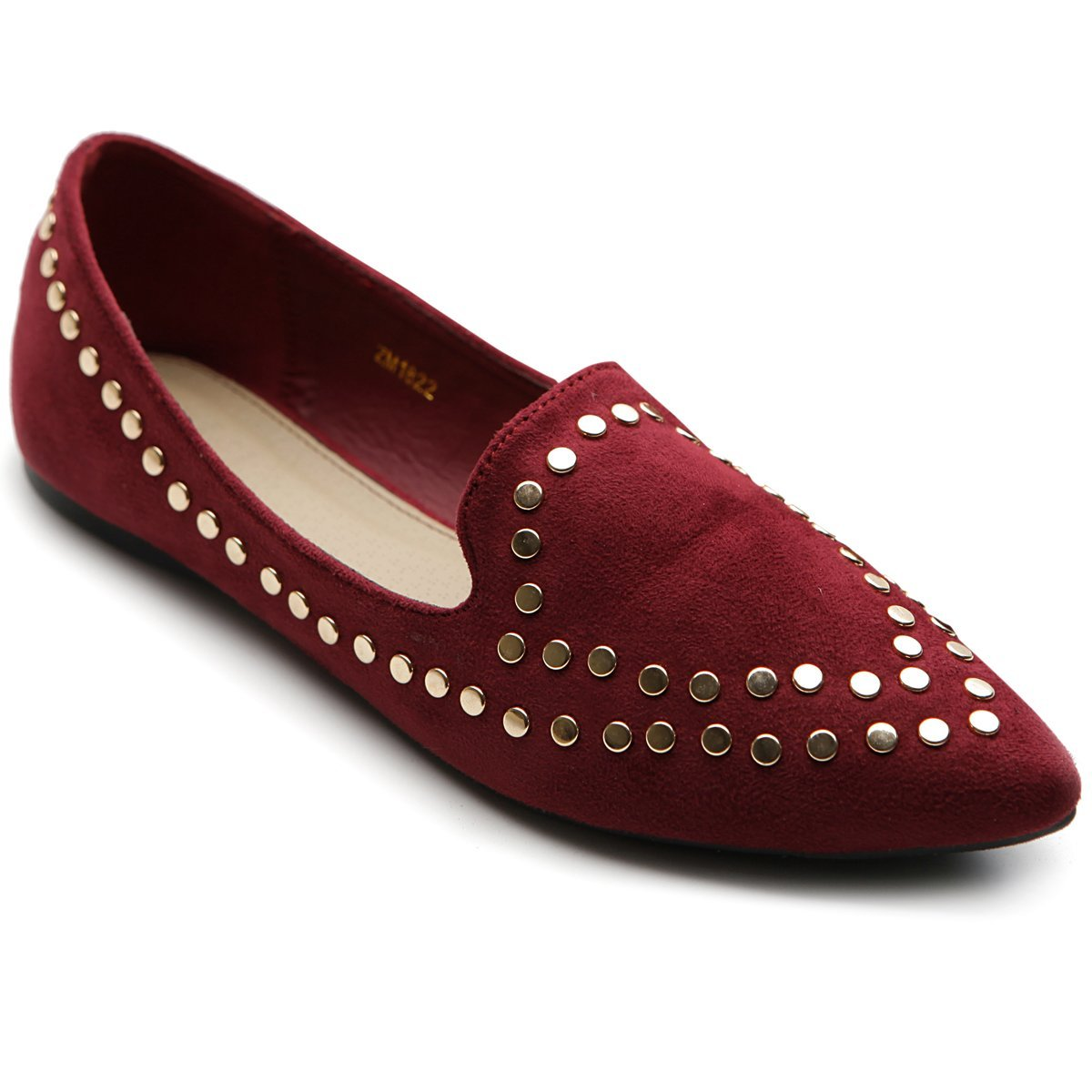 Ollio Women's Ballet Shoe Comfort Faux-Suede Studded B00HDOTFZ2 Flat(5.5 B(M) US, Burgundy) B00HDOTFZ2 Studded 6.5 B(M) US|Burgundy 1ae42a