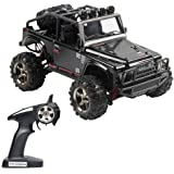 Tecesy RC Truck 1/22 Scale Electric Jeep 4WD 2.4Ghz OFF-Road Drift RC Desert Buggy with Lights 25MPH BG1511A (Black)