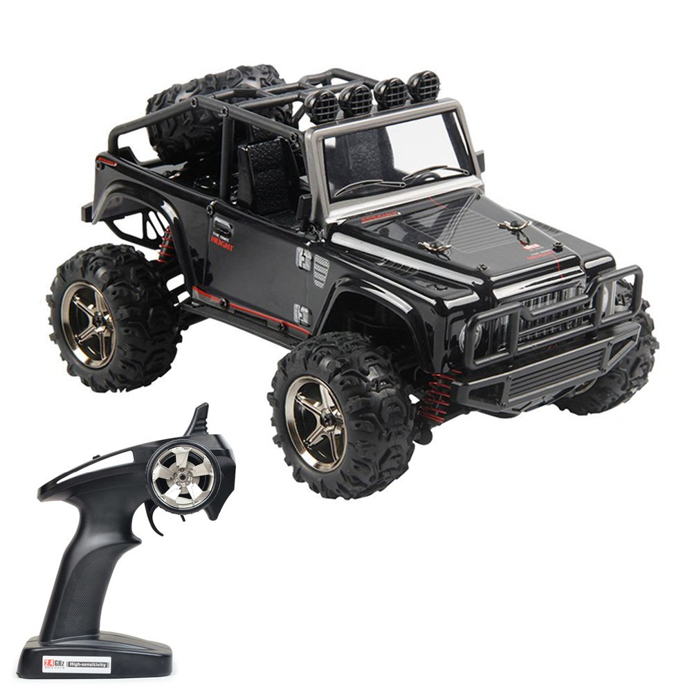 Black Tecesy RC Truck 1//22 Scale Electric Jeep 4WD 2.4Ghz Off-Road Drift RC Desert Buggy with Lights 25MPH BG1511A