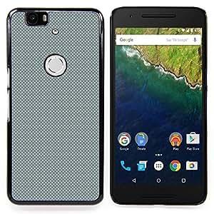 """Qstar Arte & diseño plástico duro Fundas Cover Cubre Hard Case Cover para Huawei Google Nexus 6P (Gris Modelo de puntos"""")"""
