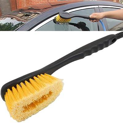 ZYHW 36cm Long Nonslip Handle Car Wheel Spoke Rim Water Brush Cleaner: Automotive