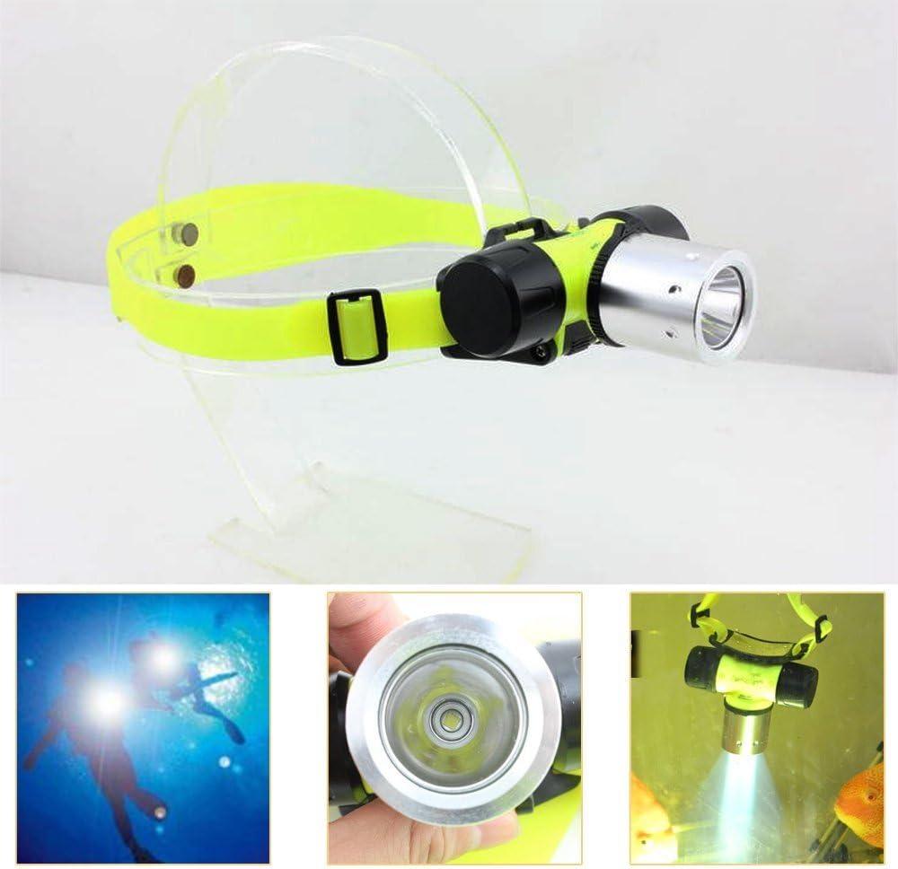 Batterie nicht enthalten Tauchen Stirnlampe 800 Lumen Taucher Taschenlampe Scheinwerfer Wasserdicht 3 Modi Super Hell Unterwasser Scheinwerfer Untersee-Kopflicht LED Tauchstrinlampe