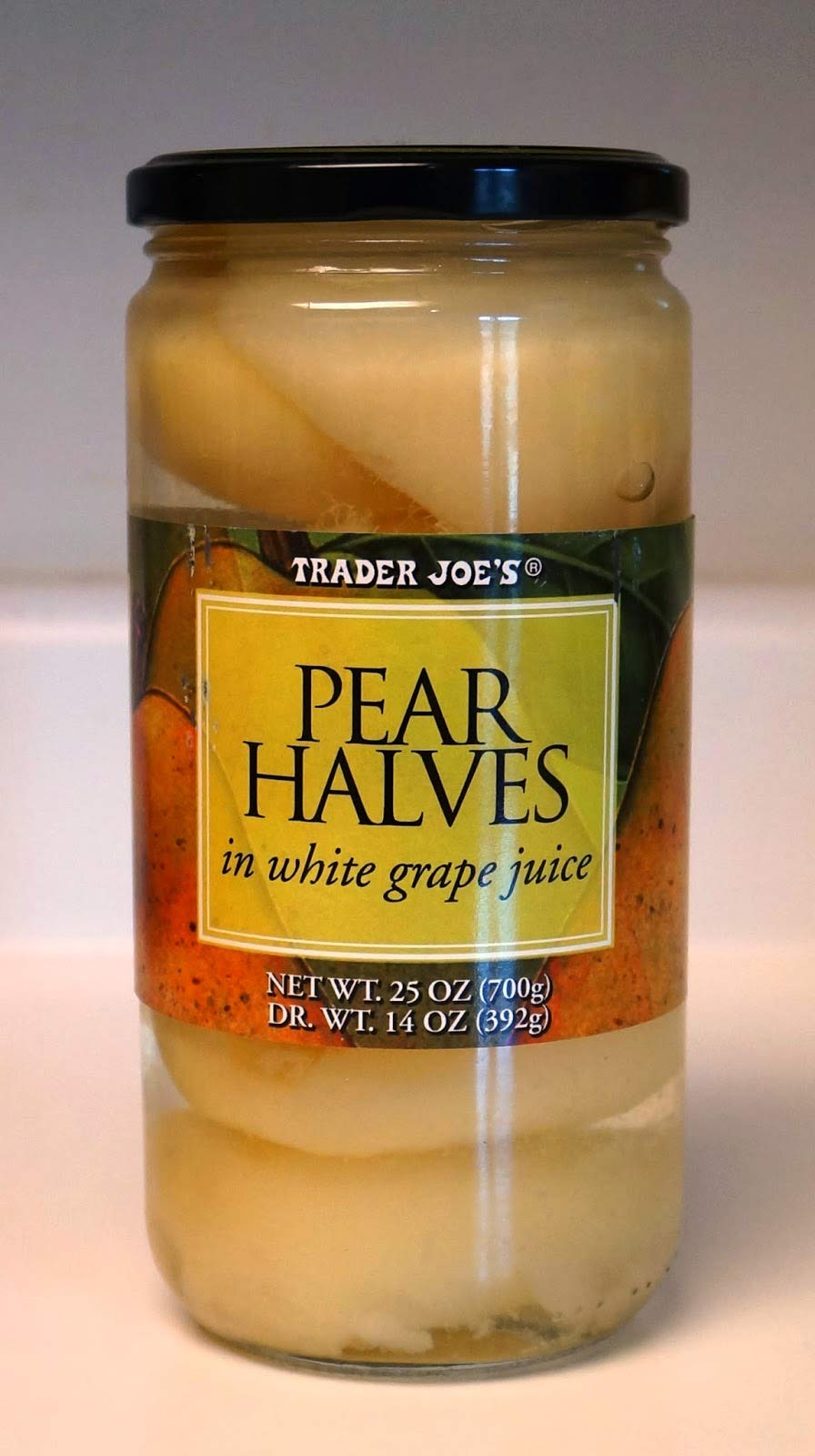 Trader Joe's Pear Halves In White Grape Juice 25 oz (Case of 3) by Trader Joe's