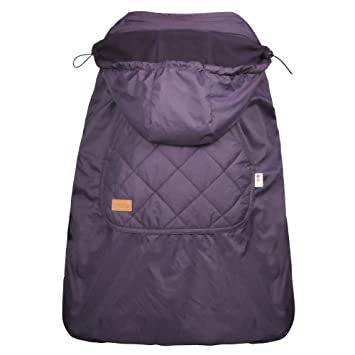 bebamour universal hoodie all season carrier cover for baby carrier dark purple - Carrier Cover