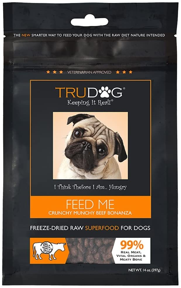 3. TruDog Feed Me Beef Grain-Free Freeze-Dried Dog Food