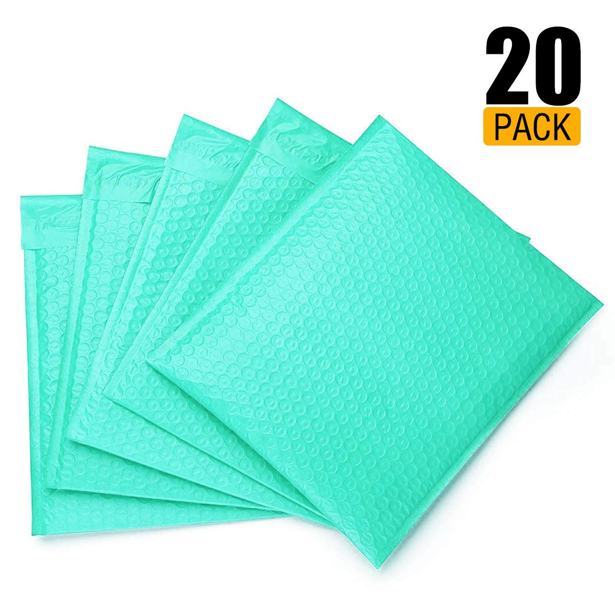 25 Blue Poly Bubble Padded Envelopes Self-Sealing Mailers 6X10 Inner 6x9