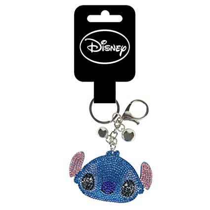 Cerdá Brillante Disney Stitch Llavero, 13 cm, Azul: Amazon ...