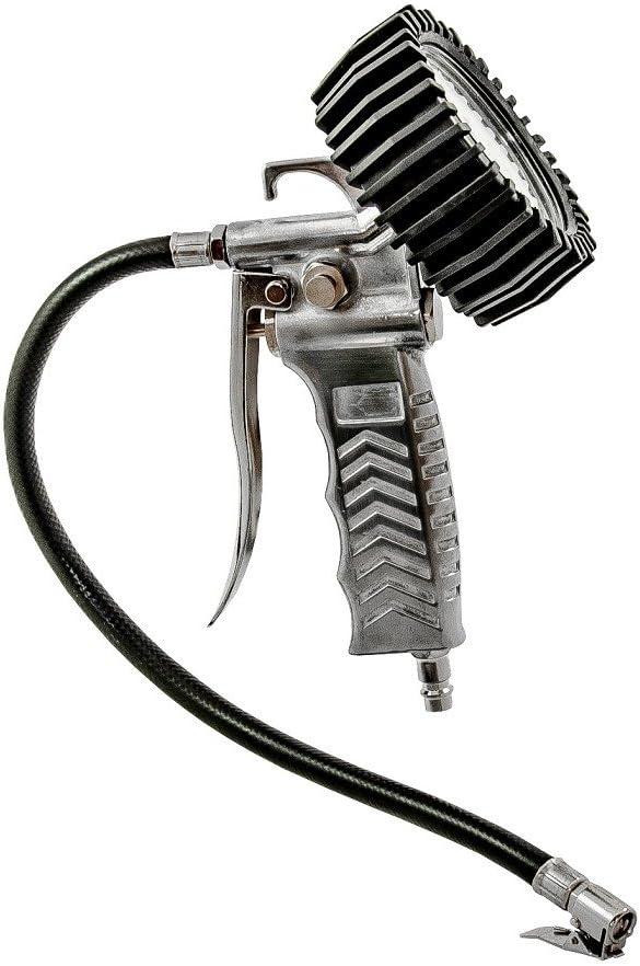 DWT-Germany Pistolet /à air comprim/é avec Gonfleur v/élo voiture camion automobile moto professionnel bar indicateur de pression Pneu 12 B/équille Testeur Manom/ètre pour Import Allemagne