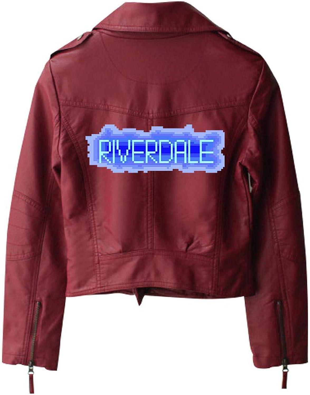 Nueva Riverdale PU Logotipo Impreso Southside Serpientes Chaquetas de Cuero de Las Mujeres