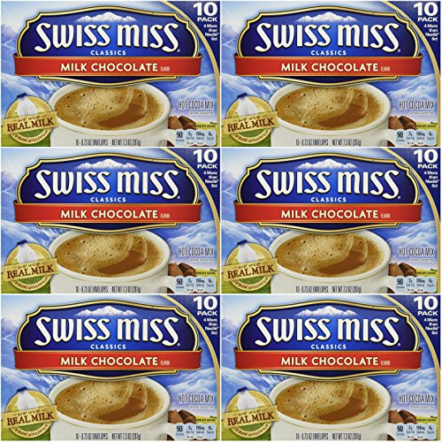 Swiss Miss Classics Milk Chocolate Hot Cocoa Mix, 60 - 0.73 oz - Drink 10 Hot Packets