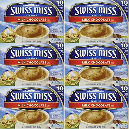 Swiss Miss Classics Milk Chocolate Hot Cocoa Mix, 60 - 0.73 oz - 10 Hot Packets Drink