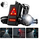 SGODDE Outdoor Night Running Lights, LED Chest Run Light with 120° Adjustable Beam, Safety Back Warning with…