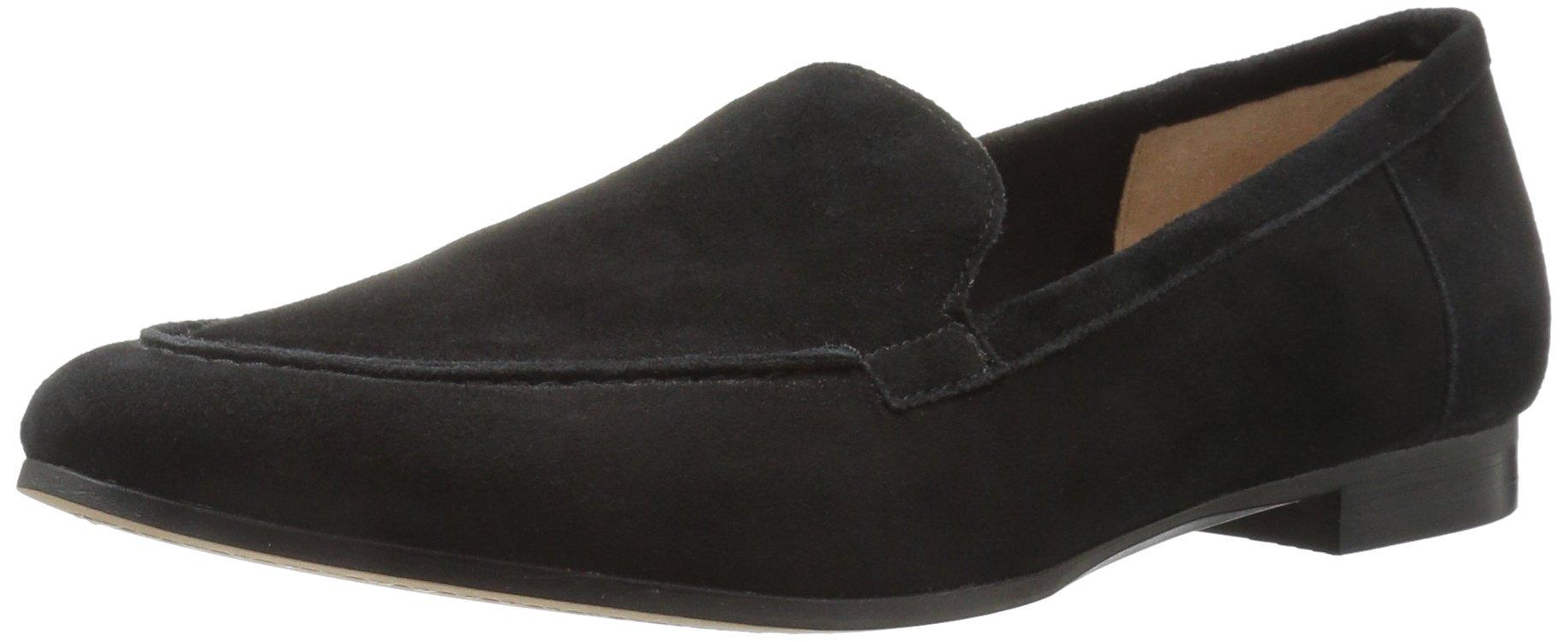 206 Collective Women's Leona Slip-on Loafer, Black, 8.5 B US