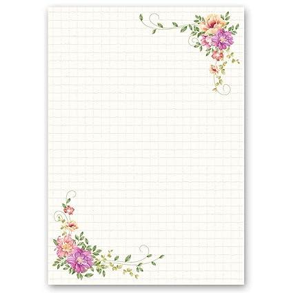 Carta da lettera decorati POSTA FLOREALE 20 fogli DIN A4