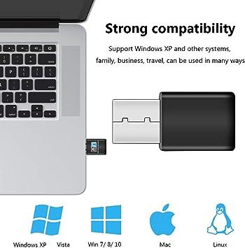 Linux prend en charge Windows 10//8//8.1//7//Vista//XP//2000 XVZ Cl/é USB Wifi 300 m 2,4 G Mini carte r/éseau sans fil compatible avec Raspberry Pi ordinateur portable//bureau//PC Mac OS X 10.6-10.14