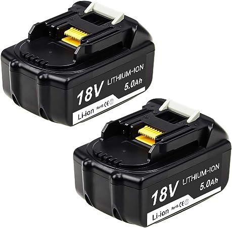 Topbatt BL1850 5.0Ah pour Makita 18V Batterie Lithium-ion de rechange...