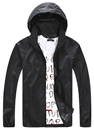 Amazon.com: ZSHOW Men's Super Lightweight Skin Jacket Quick Dry ...