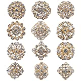 Mutian Fashion Lot 12pc Clear Rhinestone Crystal