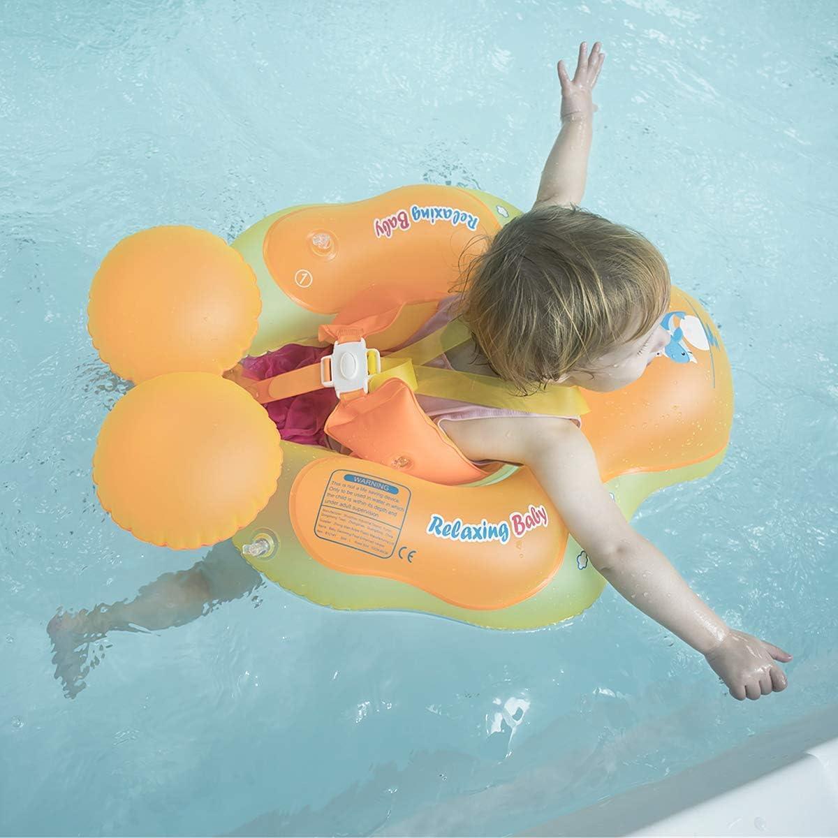Azul, S Anillo de Nataci/ón para beb/és de Piscina Flotador Inflable para Ni/ños Flotador de Nataci/ón Nadar Anillo Cintura Ajustable Myir Flotador beb/é