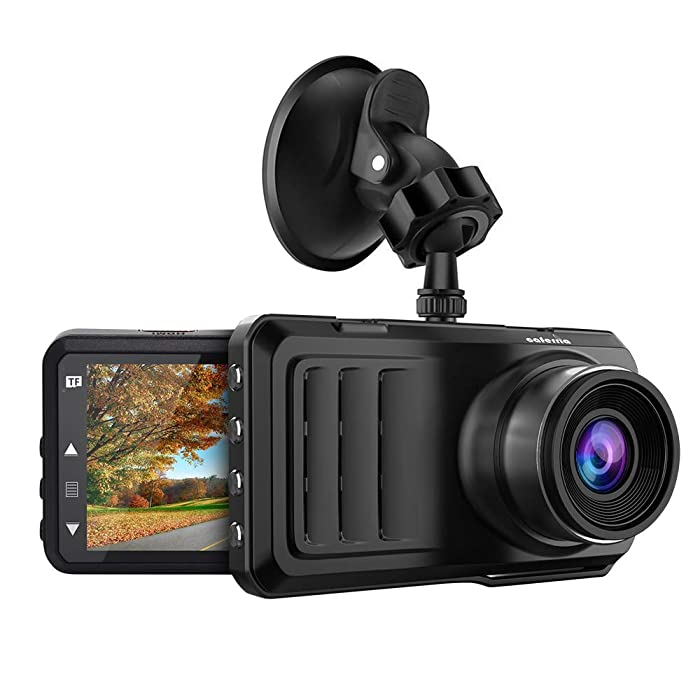 """Caferria Dash Cam 1296P FHD Dashboard Car Camera DVR Driving Recorder 3"""" LCD Screen 170°Wide Angle, G-Sensor, Night Vision, WDR, Parking Monitor, Loop Recording, Motion Detection"""