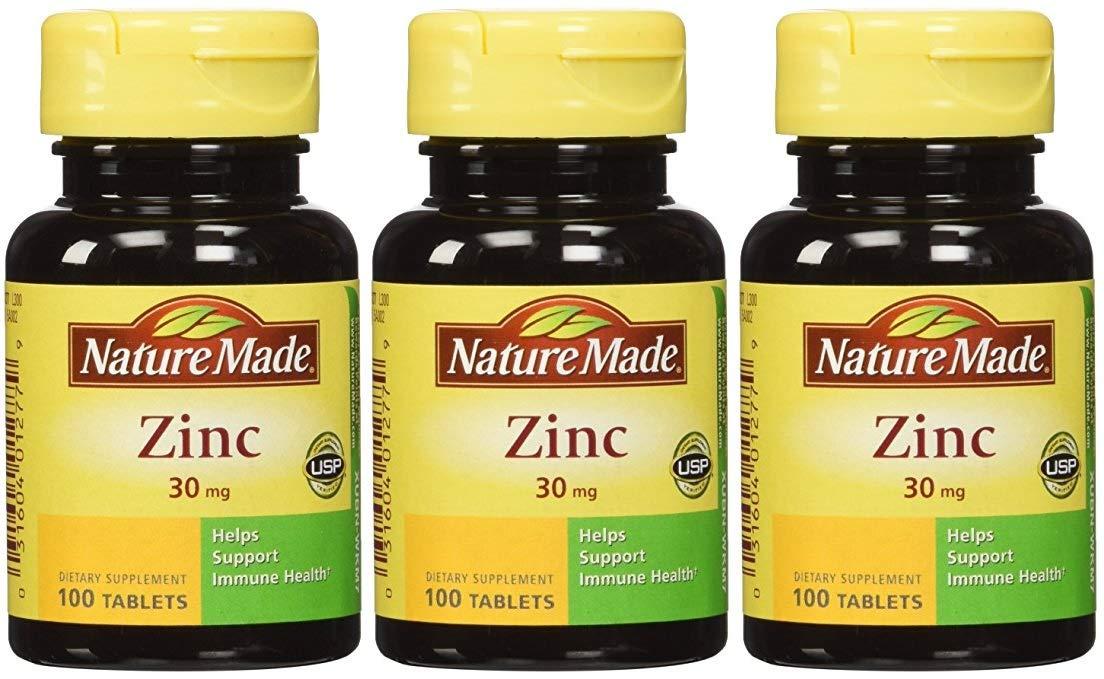 Amazon Com Nature Made Zinc Tabs 30 Mg 100 Ct Health