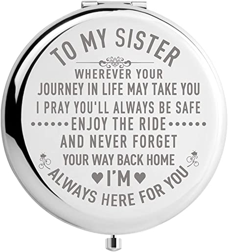 Amazon Com Sister Gifts From Sister Brother Sisters Birthday Gift Ideas For Girls Engraved Gifts For Mothers Day Graduation Present For Her Silver To My Sister 2 6inch Kitchen Dining