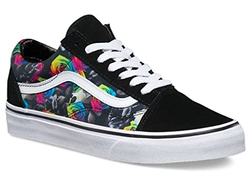 Vans U Old Skool Rainbow Floral Womens Canvas Skate Trainers