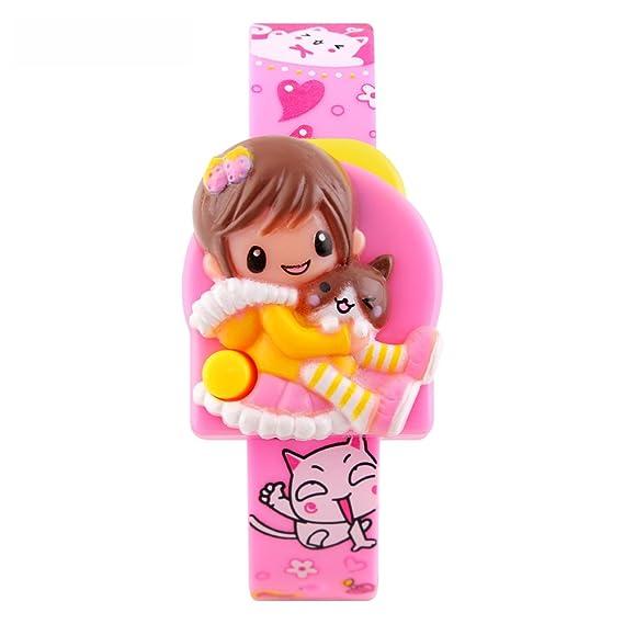 Skmei reloj Digital para niña rosa con moda dibujos animados bebé decoración no resistente al agua Calendario para niños los niños Estudiante: SKMEI: ...