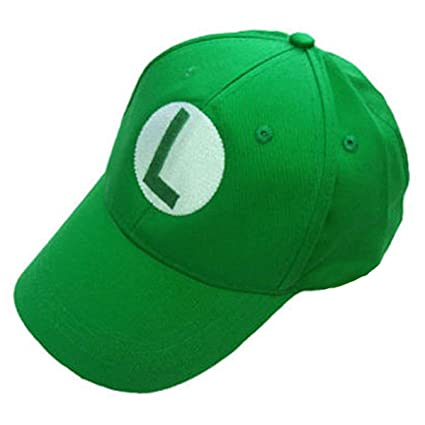 4a3c9cf7095 Image Unavailable. Image not available for. Color  Super Mario Bros Luigi  Cap L Sport Baseball Hat Summer for Kids Adjustable Green